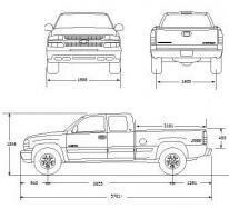 Технический рисунок Chevrolet Silverado